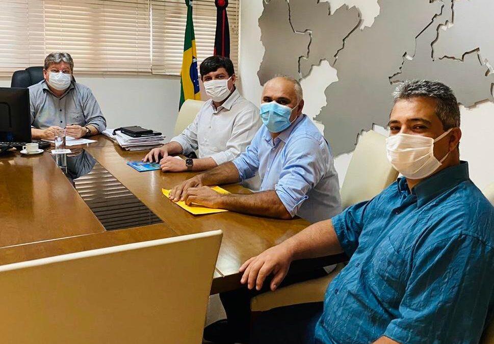 Governador João recebe deputado Taciano, prefeito Divaldo e o seu pré-candidato a vice Djacir Júnior e reassume compromisso para o projeto de reeleição